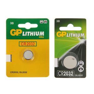 Батарейка литиевая GP, CR2032-1BL, 3В, блистер, 1 шт. 1528614