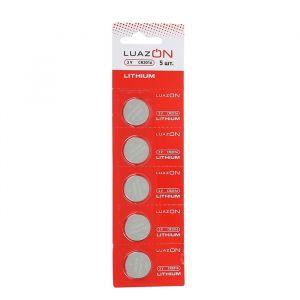 Батарейка литиевая LuazON, CR2016, 3V, блистер, 5 шт 3005562