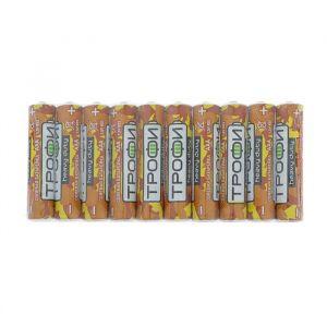 "Батарейка солевая ""Трофи"" Heavy Duty, AAA, R03-10S, 1.5В, спайка, 10 шт. 4620021"