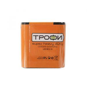"""Батарейка солевая """"Трофи"""" Super Heavy Duty, 3R12-1S, 4.5В, спайка, 1 шт. 824121"""