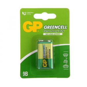 Батарейка солевая GP Greencell Extra Heavy Duty, 6F22-1BL, 9В, крона, блистер, 1 шт. 1242294