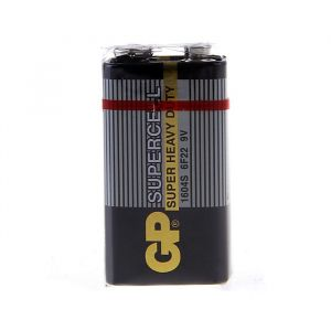 Батарейка солевая GP Supercell Super Heavy Duty, 6F22-1S, 9В, крона, спайка, 1 шт. 470414