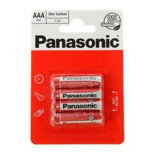 Батарейка солевая Panasonic Zinc Carbon, AAA, R03-4BL, 1.5В, блистер, 4 шт. 1035272