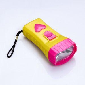 """Фонарик """"Яркость"""" FT-9918, 1 LED, кнопка в виде сердца, микс, 10х4.9х3.4 см 1134479"""