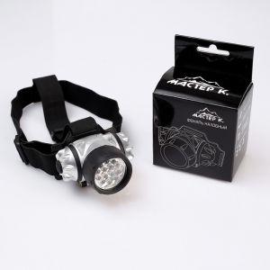 "Фонарик налобный ""Мастер К"", 14 LED, рассеиватель микс, 3 ААА, 7х4 см 555026"