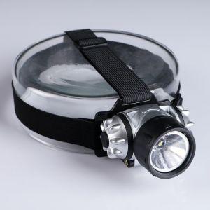 """Фонарик налобный """"Мастер К."""", 1  LED, рассеиватель, серебристо-чёрный 600980"""
