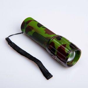 """Фонарик ручной """"Камуфляж"""", 1 LED, zoom, ручка ребристая, 3 ААА, 10 см 1527953"""