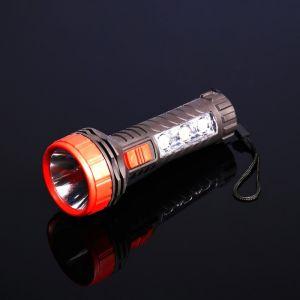 Фонарик ручной на подвеске, 2 типа освещения, 4 LED, резная ручка, 1 АА, микс, 13.7х5х5 см 1134482