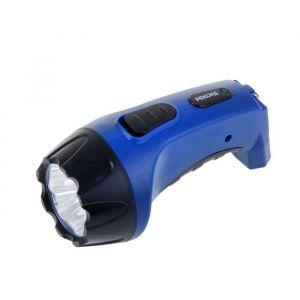 Фонарь аккумуляторный светодиодный «Рекорд» РМ-0104, синий, ЗУ в комплекте
