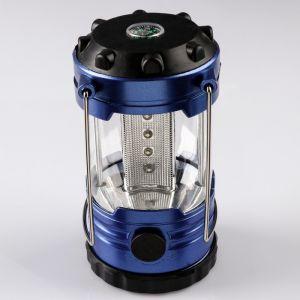 """Фонарь кемпинговый """"Зодиак"""" с компасом, 2 типа освещения, 3 АА, 4.5х10 см 484239"""