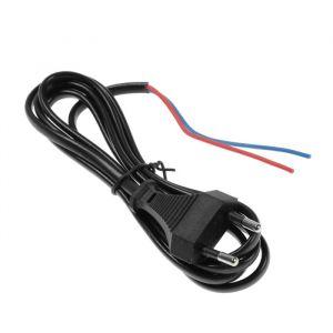Шнур сетевой с вилкой, 1,5 м, ШВВП 2 х 0.5 мм2, черный   4411044