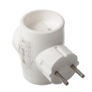 Тройник электрический REXANT, 6-10 A, без з/к, белый 3763095