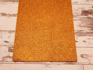 """Фоамиран """"глиттерный"""" Китай, толщина 2 мм, размер 20x30 см, цвет № Ф005 оранжевый (1 уп = 10 листов)"""
