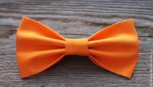 Галстук Бабочка мужской оранжевый