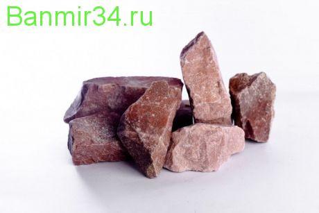 Камень д/сауны Сердце Карелии Малиновый кварцит ведро 20кг
