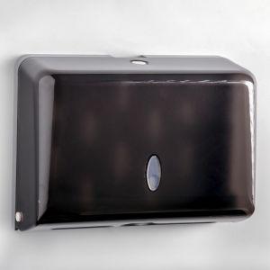 Диспенсер бумажных полотенец в листах, пластиковый (мкс.200 шт), цвет черный