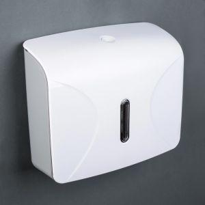 Диспенсер для бумажных полотенец в листах 21.5?9?26.5 см, пластик, цвет белый