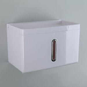 Диспенсер бумажных полотенец в листах 22?13,5?14,5 см, пластик, цвет белый