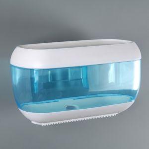 Диспенсер бумажных полотенец в листах 23?13?14 см, пластик, цвет голубой