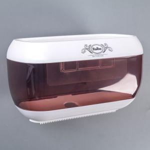 Диспенсер бумажных полотенец в листах 23?13?14 см, пластик, цвет коричневый