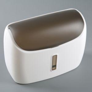 Диспенсер бумажных полотенец в листах 31?12,5?23,5 см, пластик, цвет белый/черный