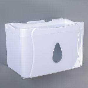 Диспенсер бумажных полотенец в листах и рулонах 22?13?14 см, пластик, цвет белый