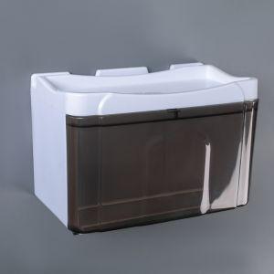 Диспенсер бумажных полотенец в листах и рулонах 22?13?14 см, пластик, цвет бело-коричневый