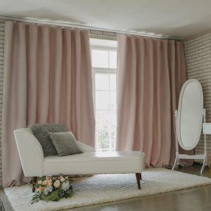 Штора портьерная «Этель» 145?265 см, блэкаут, цвет розовый металл, пл. 210 г/м?, 100% п/э