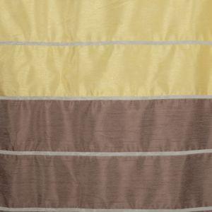 """Тюль """"Этель"""" 145х280 Гамма коричневый (горизонтальная полоса) б/утяжелителя, 100% п/э"""