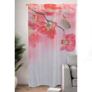 Фототюль Цветочный фон тропических орхидей 145х260 см, 2шт, пэ 100%   4519288