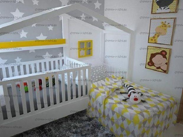 Кровать домик угловая Fairy Land №36, любые размеры