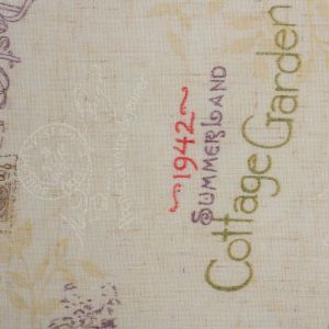 Штора портьерная «Этель» 260?260 см, Старинная открытка, полулён, 15% лён, 85% п/э