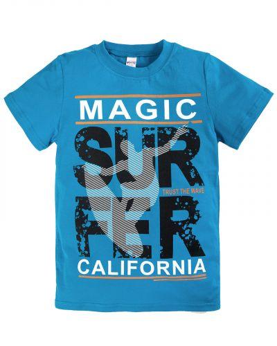 """Футболка для мальчиков 8-12 лет Bonito """"Magic Surfer"""" голубая"""