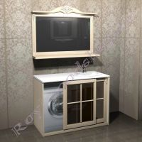 """Мебель для ванной под стиральную машину """"Глазго КОМБИ-L береза"""""""