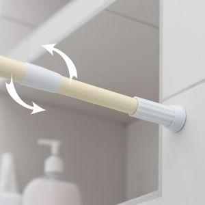 Карниз для ванной комнаты, телескопический 110-200 см, цвет бежевый