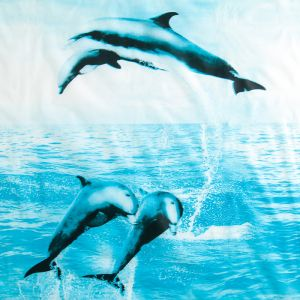 """Штора для ванной 180?180 см """"Дельфины"""", РEVA"""