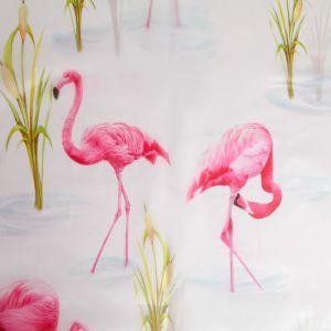 "Штора для ванной 180?180 см ""Фламинго"", EVA"