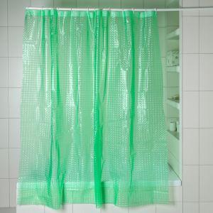 Штора для ванной 3D 180?180, EVA, цвет зелёный