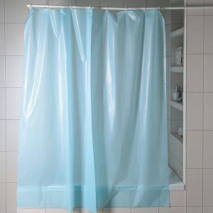 """Штора для ванной 180?180 см """"Голубой"""", полиэтилен"""