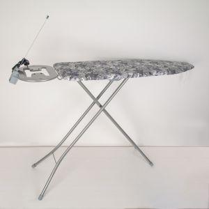 Доска гладильная Venus Plus, 38?120 см, с розеткой и подрукавником, поверхность металлическая сетка, рисунок МИКС