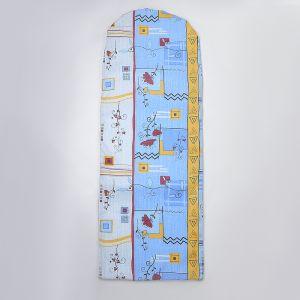 Чехол для гладильной доски 129?45 см, с креплением на резинке, рисунок МИКС