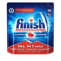 Таблетки для посудомоечных машин Finish Powerball All In 1 Max Super Charg ed 50шт
