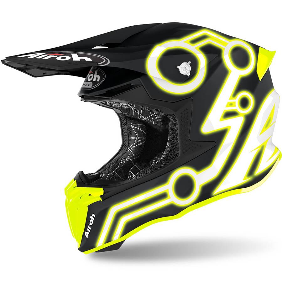 Airoh Twist 2.0 Neon Yellow шлем внедорожный