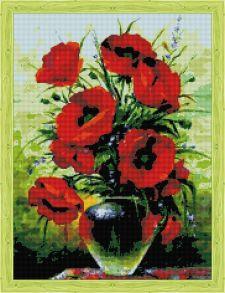 Алмазная мозаика «Солнечные цветы. Маки» 50x65 см