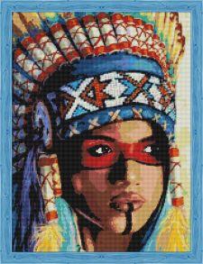 Алмазная мозаика «Индианка» 50x65 см