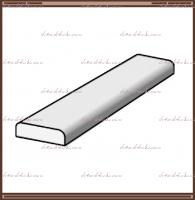 Притворная планка (нащельник) для распашных дверей с покрытием Эмаль, цвет окраса -  RAL 9003,7040 Белый :