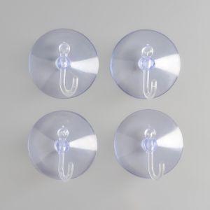 Набор крючков на вакуумной присоске 4 шт 4886734