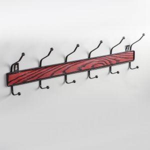 """Вешалка на 6 двойных крючков 50х14х5,5 см """"Древесина"""" цвет коричневый 4440670"""