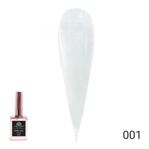 HARD GEL  гель для наращивания и укрепления ногтей 15ml №01 Global Fashion