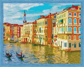 Алмазная мозаика «Город на воде» 40x50 см